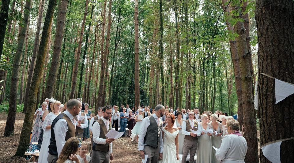 Woodland Wedding Photography: Enchanting Woodland Wedding Photography At Umberslade